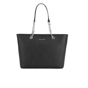 MICHAEL MICHAEL KORS Jet Set Travel Chain Top Zip Tote Bag - Black