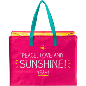 "Sac de Course "" peace, Love and Sunshine"" -Happy Jackson"