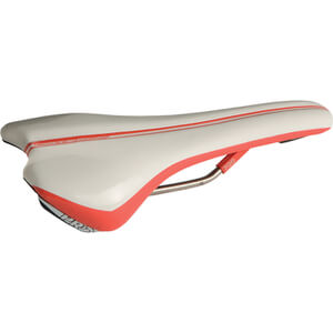 Pro Griffon Saddle Hollow Ti Rails - 142 mm Wide - Regular Fit - White/Red