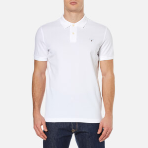 GANT Men's The Original Pique Polo Shirt - White
