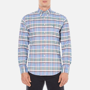 GANT Men's Comfort Oxford Plaid Shirt - Clear Red