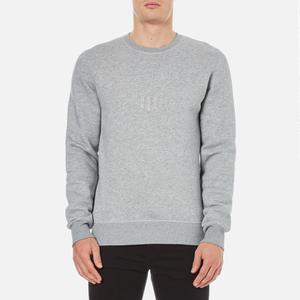 GANT Men's Embossed Crew Neck Sweatshirt - Grey Melange