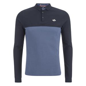Le Shark Men's Benhill Long Sleeve Polo Shirt - Bijou Blue