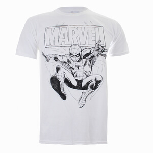 T-Shirt Marvel Spider - Man Lines - Blanc