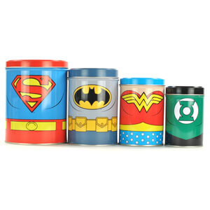Justice League of America Cannisters in Gift Box (Set of 4)