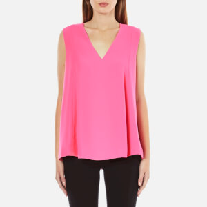 McQ Alexander McQueen Women's Flared Tank Top - Shocking Pink