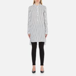 McQ Alexander McQueen Women's Tunic Shirt Dress - White/Black Stripe