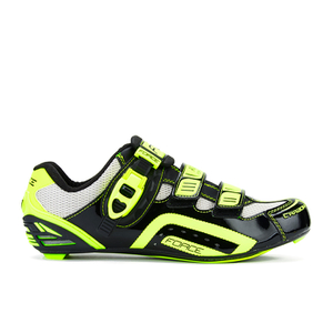 Force Race Carbon Cycling Shoes - Black/Fluro