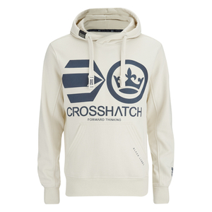 Crosshatch Men's Quon Kangeroo Pocket Hoody - Vaporous Grey