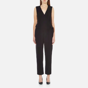 Theory Women's Alvmie Admiral Crepe Light Jumpsuit - Black