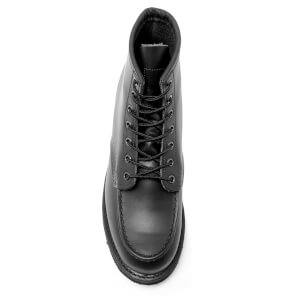 Red Wing Men's 6 Inch Moc Toe Leather Lace Up Boots - Black Chrome: Image 3