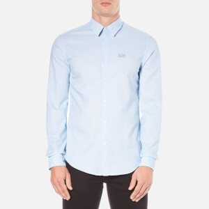 BOSS Green Men's C-Buster Logo Long Sleeve Shirt - Blue