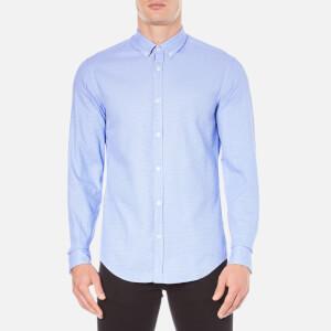 BOSS Green Men's C-Baldasar Long Sleeve Shirt - Blue
