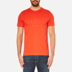 BOSS Green Men's Tee US Tonal Logo T-Shirt - Orange