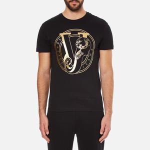 Versace Jeans Men's Foil Print T-Shirt - Black