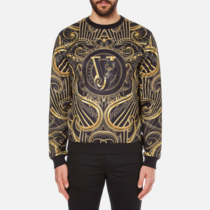 Versace Jeans Men's All Over Print Sweatshirt - Black
