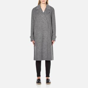 Alexander Wang Women's Oversized Trench Coat with Triple Snap Detail - Gravel
