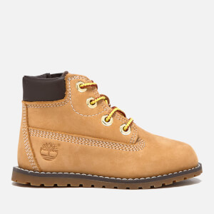 Timberland Toddlers' Pokey Pine Leather 6 Inch Zip Boots - Wheat