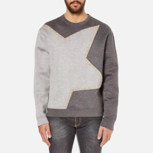 Versace Collection Men's Star Logo Sweatshirt - Grey