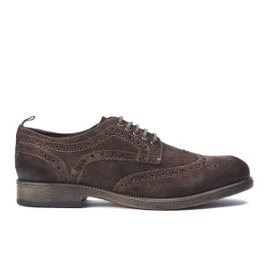 Wrangler Men's Castle Suede Brogues - Dark Brown