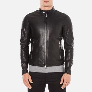 J.Lindeberg Men's Trey Leather Jacket - Black