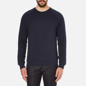 J.Lindeberg Men's Chad Pattern Sweatshirt - Blue