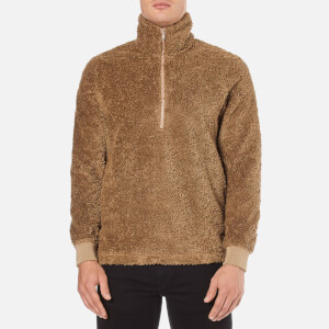 A Kind of Guise Men's Mani Zip Pullover Jumper - Camel