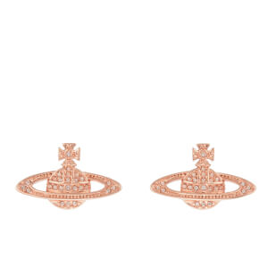 Vivienne Westwood Jewellery Women's Mini Bas Relief Pierced Earrings - Silk Crystals
