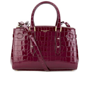 Aspinal of London Women's Brook Street Croc Tote Bag - Bordeaux Croc
