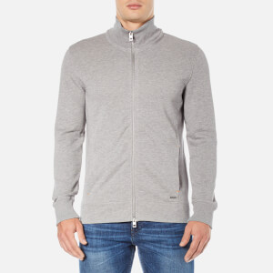 BOSS Orange Men's Zissou Zipped Sweatshirt - Grey