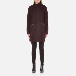 Vero Moda Women's Ciri Energy 3/4 Wool Jacket - Decadent Chocolate