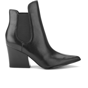 Kendall + Kylie Women's Finley Leather Heeled Chelsea Boots - Black