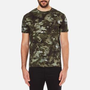 Versus Versace Men's Camo Print Crew Neck T-Shirt - Stampa