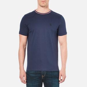 Luke 1977 Men's Skinny Striper Crew Neck T-Shirt - Marina Navy