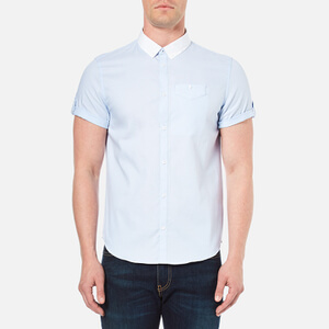 Luke 1977 Men's Fortunes Gap Short Sleeve Shirt - Sky White