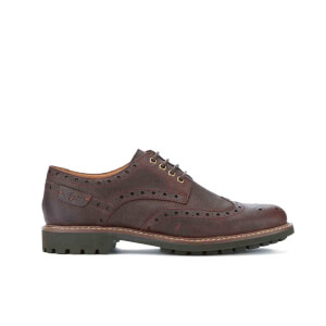 Clarks Men's Montacute Wing Brogues - Chestnut