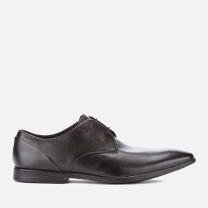 Clarks Men's Bampton Lace Leather Derby Shoes - Black