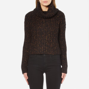 Carven Women's Roll Neck Cropped Jumper - Black