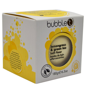 Bubble T Bath Fizzer - Lemongrass & Green Tea 180 g