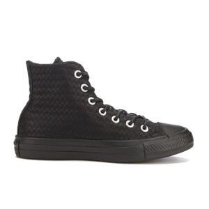 Converse Women's Chuck Taylor All Star Craft Leather Hi-Top Trainers - Black Monochrome