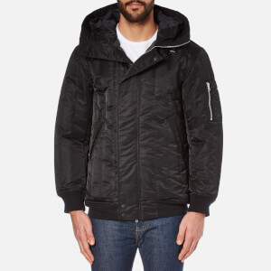Converse Men's Channel Quilted MA-1 Jacket - Black