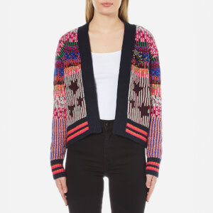 Maison Scotch Women's Short Knitted Cardigan - Multi