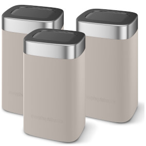 Morphy Richards 974070 Accents Set Of 3 Canisters - Grey