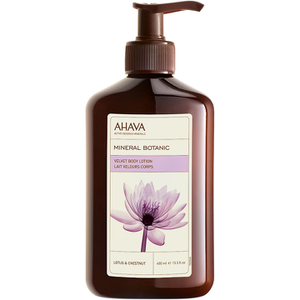 AHAVA Mineral Botanic Velvet Body Lotion - Lotus Flower and Chestnut 400ml
