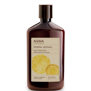 AHAVA Mineral Botanic Velvet Cream Wash - Tropical Pineapple and White Peach 500ml