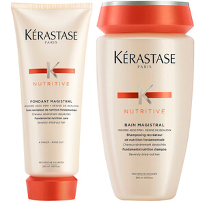 Nutritive Fondant Magistral 200ml y Kérastase Nutritive Bain Magistral 250ml