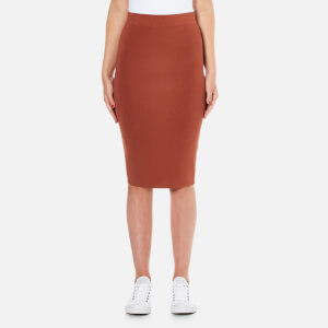 Selected Femme Women's Mirja Knitted Skirt - Rustic Brown