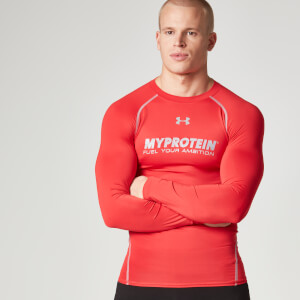 Under Armour Heatgear Compression-tröja, Herr – Röd