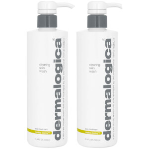 2x Dermalogica MediBac Clearing Skin Wash 500ml