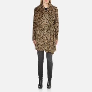 MICHAEL MICHAEL KORS Women's Drape Front Wrap Coat - Dark Camel